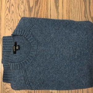 Classic JCrew heavy wool blue-gray sweater
